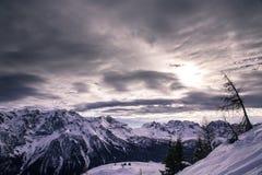 Madonna di Campiglio. Ski Slope near Madonna di Campiglio Ski Resort, Italian Alps Royalty Free Stock Photos