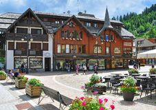 Madonna di Campiglio on summer, Italy Royalty Free Stock Photos