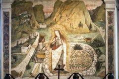 Madonna di Tirano & x28; Sondrio& x29; , historisk fristad, inre Arkivfoton