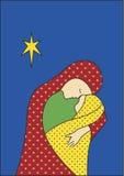 Madonna e criança ilustração royalty free