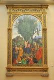 Madonna e criança com Saint, por Libri Fotografia de Stock Royalty Free