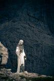 Madonna em torres de Vajolet, dolomites Imagens de Stock