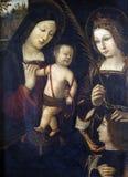Madonna en Kind, St Catherine en de donor Royalty-vrije Stock Afbeelding
