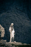 Madonna en las torres de Vajolet, dolomías Imagenes de archivo