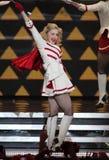 Madonna esegue di concerto immagine stock