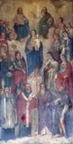Madonna et enfant avec des saints et des anges Photos libres de droits