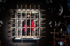 Madonna. Famous pop singer Madonna during her performance in Prague, Czech republic, November 7, 2015 Stock Photos