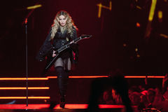Madonna. Famous pop singer Madonna during her performance in Prague, Czech republic, November 7, 2015 Royalty Free Stock Photos