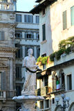 Madonna fountain on Piazza delle Erbe in Verona, Italy Royalty Free Stock Photography