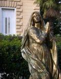 Madonna golden statue near St. James church in Opatija ,Croatia Stock Photography