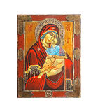 Madonna icon. Icon of Christian religion holy Madonna icon Royalty Free Stock Image