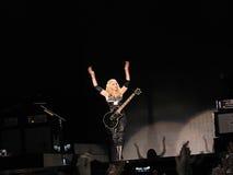 Madonna innerhalb des Phasenkonzerts Stockfotos