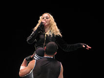 Madonna within the live concert Stock Images