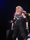 Madonna within the live concert. Madonna on Sticky and Sweet World Tour 2008-2009 Stock Photography