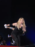 Madonna within the live concert. Madonna on Sticky and Sweet World Tour 2008-2009 Royalty Free Stock Images