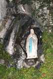 Madonna in Lourdes Cave Stock Photography
