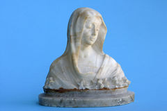 Madonna marble statuette Royalty Free Stock Photos