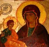 Madonna (Maria) y un niño (Jesucristo) Imagen de archivo