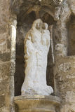Madonna medieval statue Royalty Free Stock Images