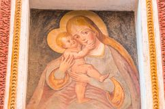 Madonna met de Zuigeling Jesus stock fotografie