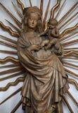 Madonna met Kind Jesus Stock Afbeeldingen
