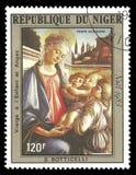 Madonna mit Kind und Engel durch Botticelli Lizenzfreie Stockfotos