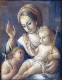 Madonna mit Kind und Johannes der Baptist Lizenzfreie Stockfotografie
