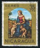 Madonna mit Kind und Johannes durch RAPHAEL Stockfotos