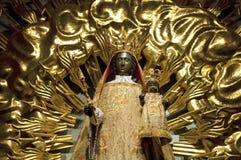 Madonna negro coloreado oro en Fribourg Foto de archivo libre de regalías