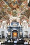 Madonna negro en la capilla de señora en la abadía de Einsiedeln Imagenes de archivo
