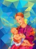 Madonna och barn Arkivfoto