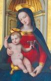 Madonna och barn - 16th århundrademålning Royaltyfri Bild