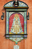 Madonna painted in baroque styling on azulejos, Sevilla Royalty Free Stock Images