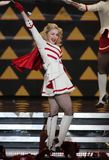Madonna performs in concert stock image
