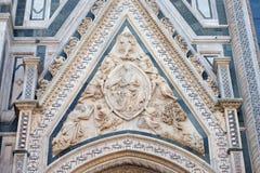 Madonna podpasanie, portal Florencja katedra fotografia stock