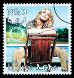 Madonna Postage Stamp Royalty Free Stock Photo