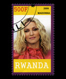 Madonna Postage Stamp from Rwanda Royalty Free Stock Photography