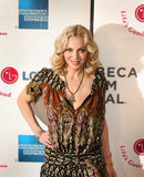 Madonna. Singer/entertainer Madonna poses on the red carpet for the premiere of `I Am Because We Are,` a British-American-Malawian documentary about AIDS orphans Stock Images