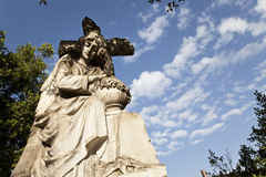 Madonna statue at the cementery Stock Photography