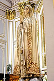 Madonna statue. Civitavechia Rome Italy The statue of the virgin maria worshiped by Catholic religious in the cathedral of civitavechia roma italia royalty free stock photo