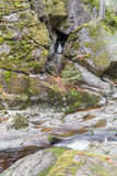 Madonna statue in the Flume in Spiegelau in the bavarian forest Stock Photos