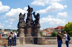 Madonna statue, Prague. Stock Photos
