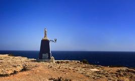 Madonna staty i Malta fotografering för bildbyråer