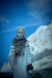 Madonna on Vajolet towers, Dolomites Royalty Free Stock Images