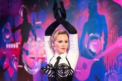 Madonna vaxdiagram på museet för madam Tussauds i Istanbul fotografering för bildbyråer