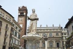Madonna Verona Fountain Stock Photos