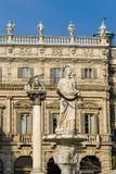 Madonna Verona in Piazza delle Erbe Stock Photos