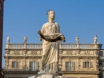 Madonna Verona in Piazza delle Erbe Stock Image