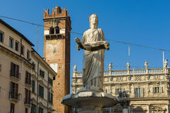 Madonna Verona in Piazza delle Erbe Royalty Free Stock Images