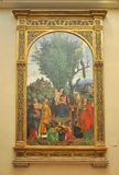 Madonna y niño con los santos, por Libri Fotografía de archivo libre de regalías